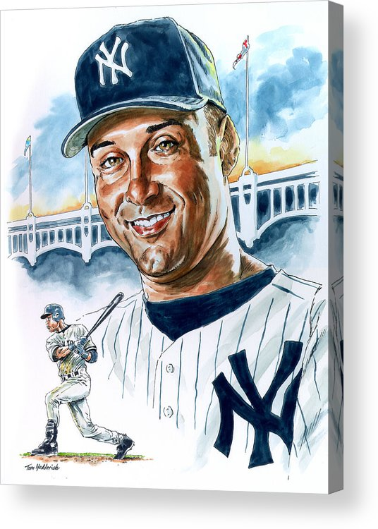 Jeter Acrylic Print featuring the painting Jeter by Tom Hedderich