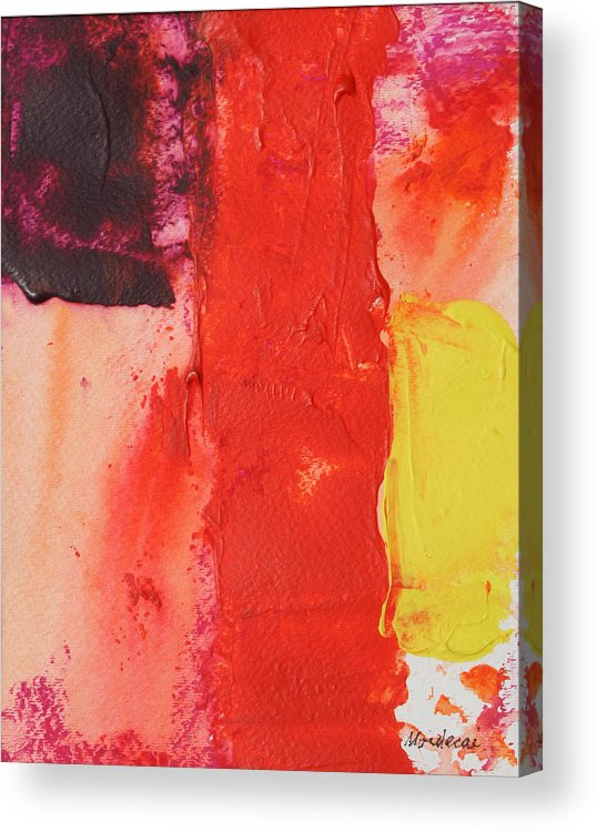 Abstract Acrylic Print featuring the painting No.17 by Mordecai Colodner