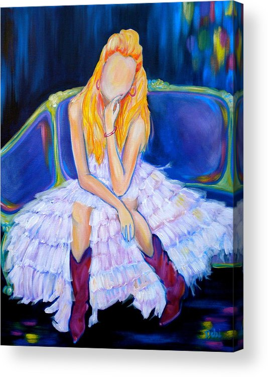 Southern Sass Acrylic Print featuring the painting Southern Sass by Debi Starr