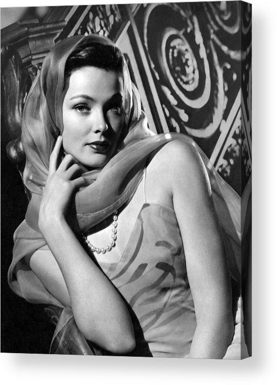 11x14lg Acrylic Print featuring the photograph The Razors Edge, Gene Tierney, 1946 by Everett