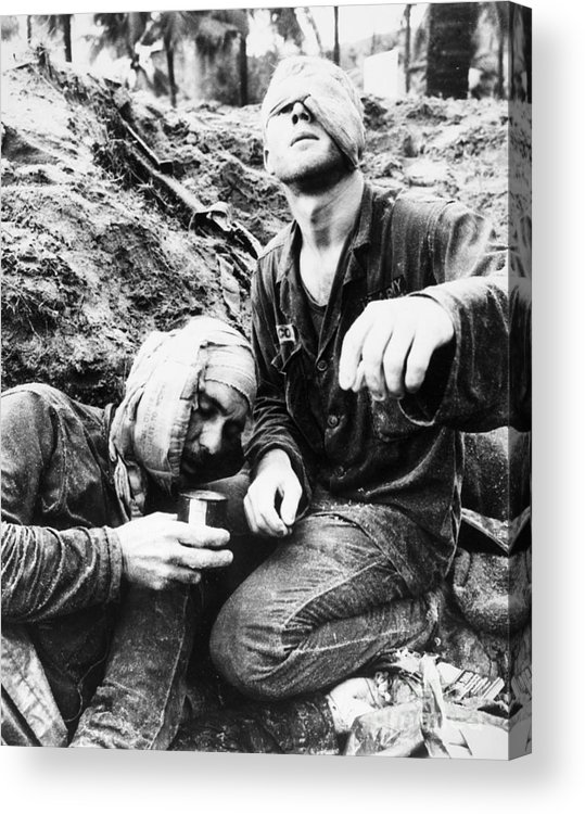 1966 Acrylic Print featuring the photograph Vietnam War Medic 1966 by Granger