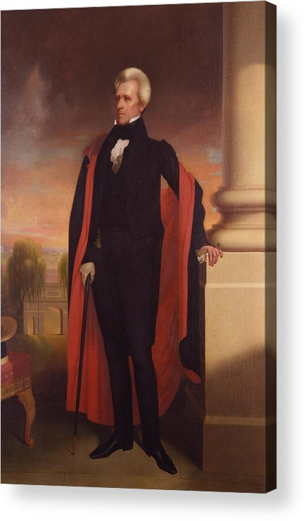 Andrew Jackson Acrylic Print featuring the painting Andrew Jackson Standing by War Is Hell Store