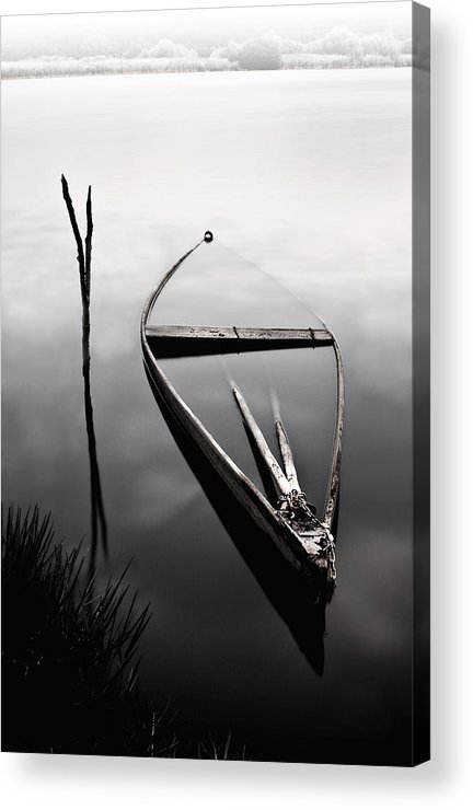 Boats Acrylic Print featuring the photograph Forgotten In Time by Jorge Maia