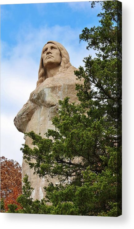 Statue Acrylic Print featuring the photograph Chief Blackhawk Statue by Bruce Bley