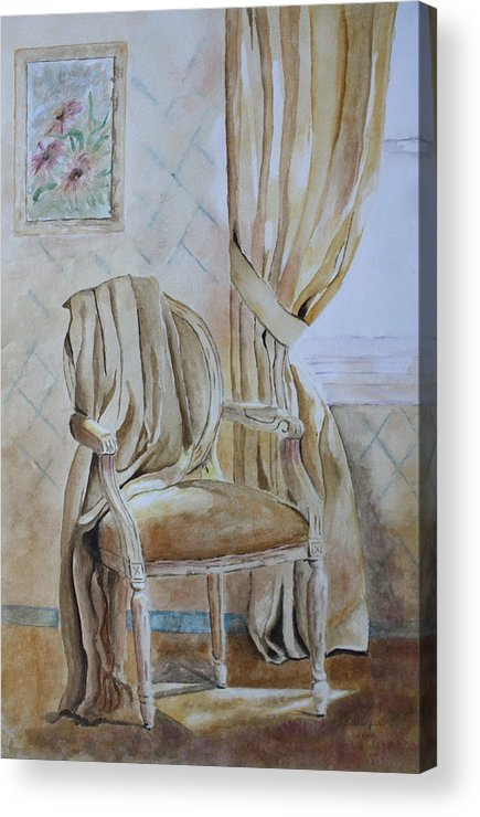Interior Still Life Acrylic Print featuring the painting Sunlit Afternoon by Patsy Sharpe