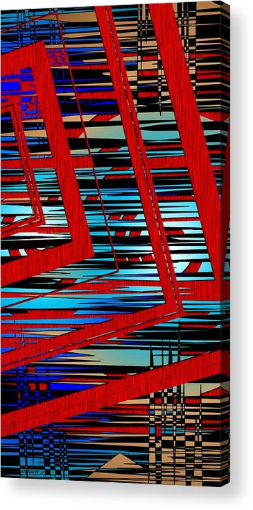 Line Acrylic Print featuring the digital art Lines And Design by Mario Perez