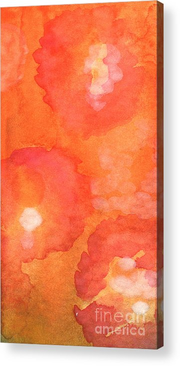 Abstract Flowers Acrylic Print featuring the painting Tuscan Roses by Linda Woods