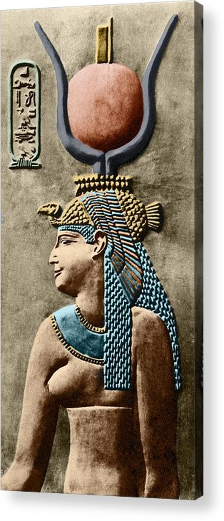 Cartouche Acrylic Print featuring the photograph Cleopatra Vii by Sheila Terry