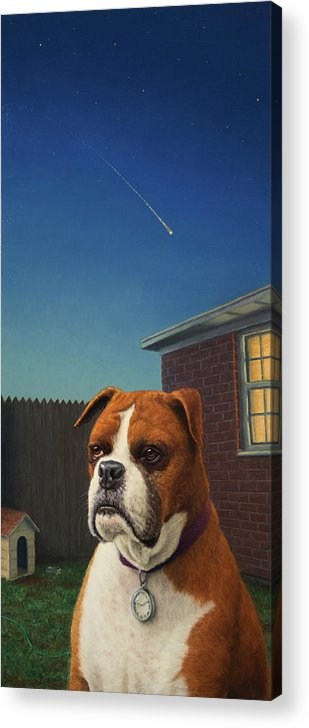 Watchdog Acrylic Print featuring the painting Watchdog by James W Johnson
