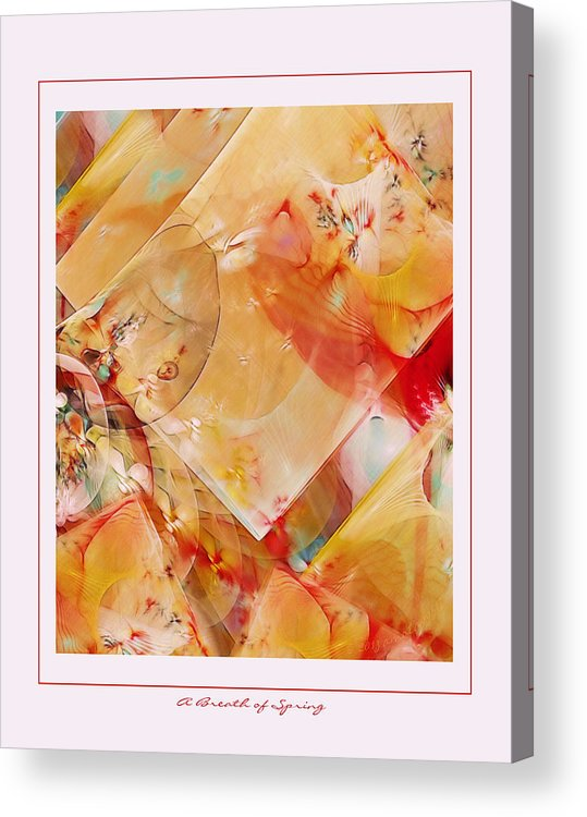 Fractal Acrylic Print featuring the digital art A Breath Of Spring by Gayle Odsather