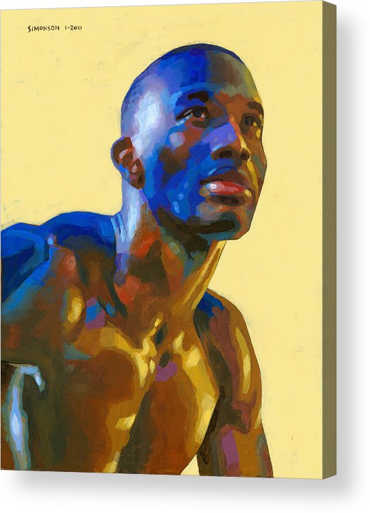 Black Acrylic Print featuring the painting Afternoon Colors by Douglas Simonson