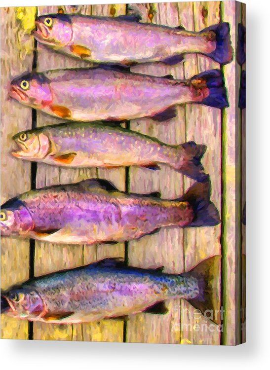 Animal Acrylic Print featuring the photograph Catch Of The Day - Painterly - V1 by Wingsdomain Art and Photography