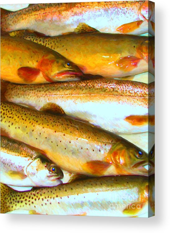 Animal Acrylic Print featuring the photograph Catch Of The Day - Painterly - V2 by Wingsdomain Art and Photography
