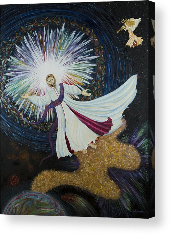 Julia Bowman Acrylic Print featuring the painting Come With Me by Julia Bowman