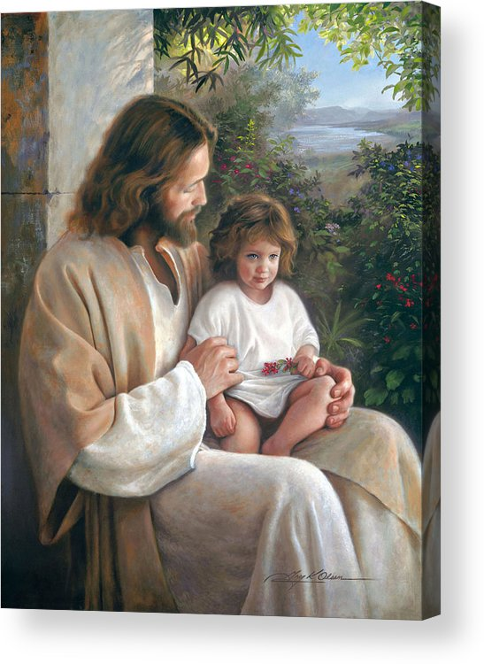 Jesus Acrylic Print featuring the painting Forever And Ever by Greg Olsen
