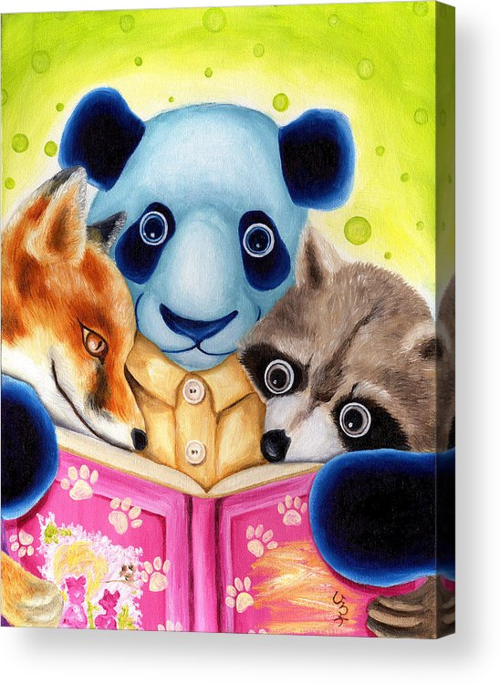 Panda Illustration Acrylic Print featuring the painting From Okin The Panda Illustration 10 by Hiroko Sakai