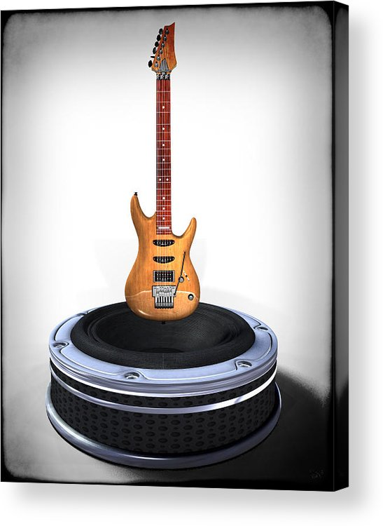 Music Acrylic Print featuring the digital art Guitar Desplay V1 by Frederico Borges
