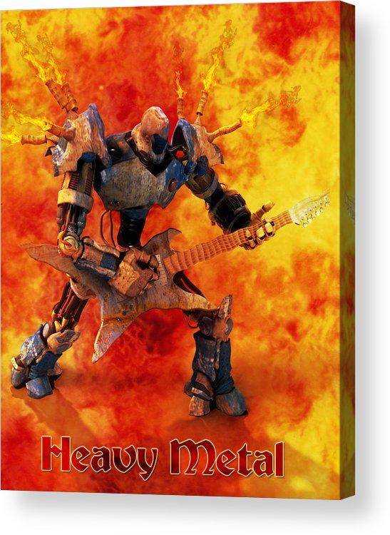 Metal Acrylic Print featuring the digital art Heavy Metal by Frederico Borges