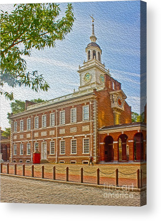 Pennsylvania Acrylic Print featuring the photograph Independence Hall Philadelphia by Tom Gari Gallery-Three-Photography