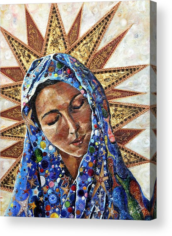 Madonna Acrylic Print featuring the painting Madonna Of The Dispossessed by Mary C Farrenkopf