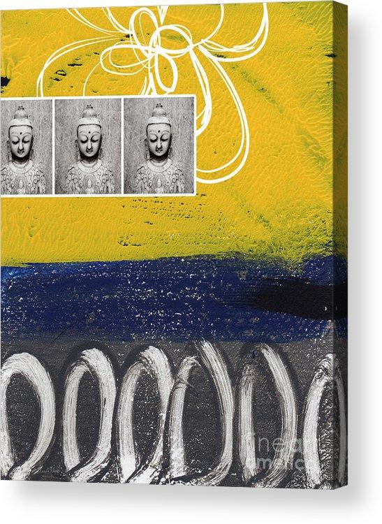 Buddha Acrylic Print featuring the painting Morning Buddha by Linda Woods