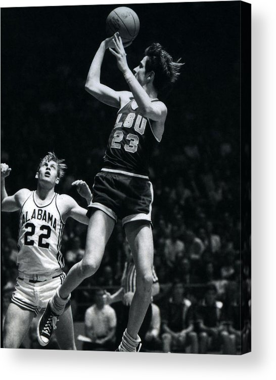 Classic Acrylic Print featuring the photograph Pete Maravich Fade Away by Retro Images Archive