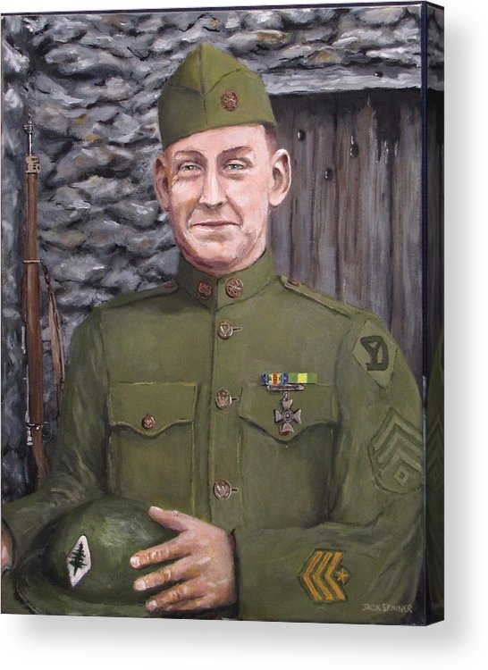 Sgt Sam Avery Acrylic Print featuring the painting Sgt Sam Avery by Jack Skinner