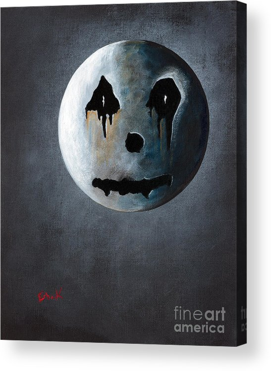 Moon Acrylic Print featuring the painting What It's Like Without You - Gothic By Shawna Erback by Shawna Erback