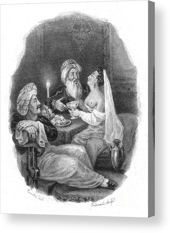 19th Century Acrylic Print featuring the photograph Harem by Granger