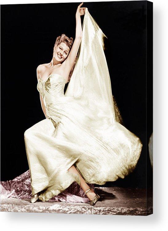 1940s Portraits Acrylic Print featuring the photograph Rita Hayworth, 1940s by Everett