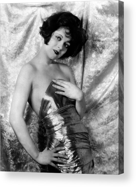 1920s Hairstyles Acrylic Print featuring the photograph Clara Bow, 1926 by Everett