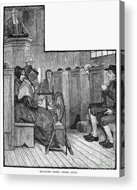 19th Century Acrylic Print featuring the photograph Quaker Meeting by Granger