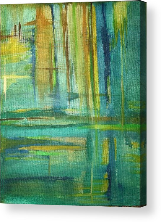 Spring Acrylic Print featuring the painting Spring by Derya Aktas
