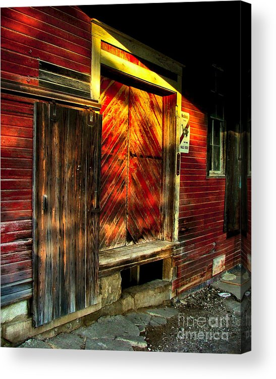 Feed Mill Acrylic Print featuring the photograph Williams Feed Mill In Williams Indiana by Julie Dant