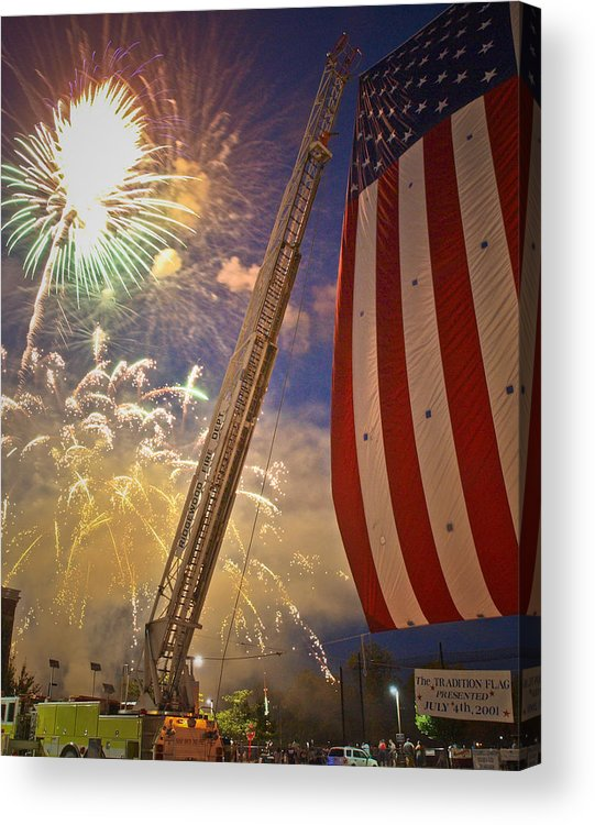 4th Acrylic Print featuring the photograph America The Beautiful by Jim DeLillo