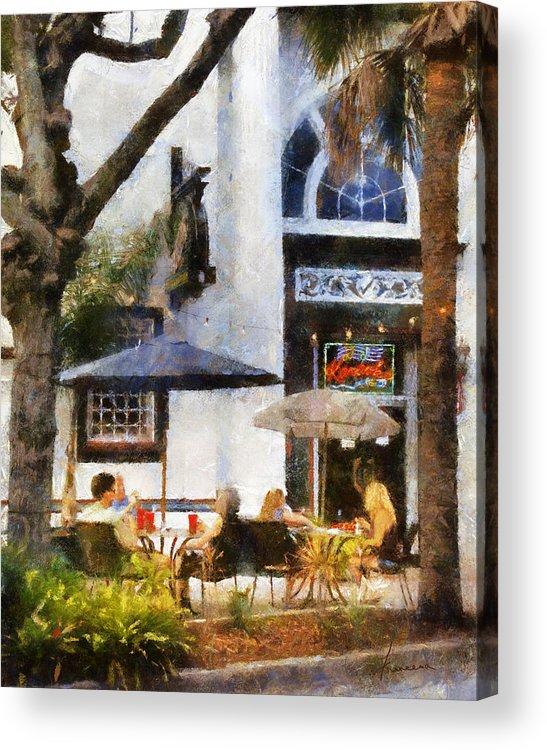 Dine Acrylic Print featuring the digital art Cafe by Francesa Miller