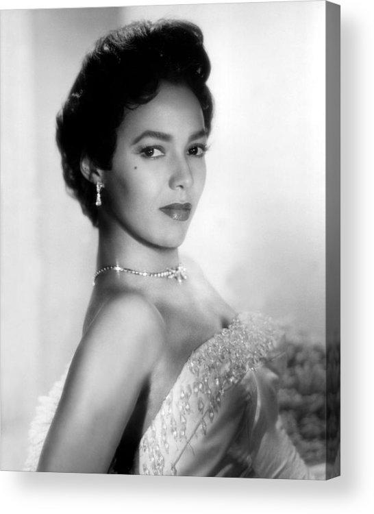1950s Portraits Acrylic Print featuring the photograph Dorothy Dandridge, No Date by Everett