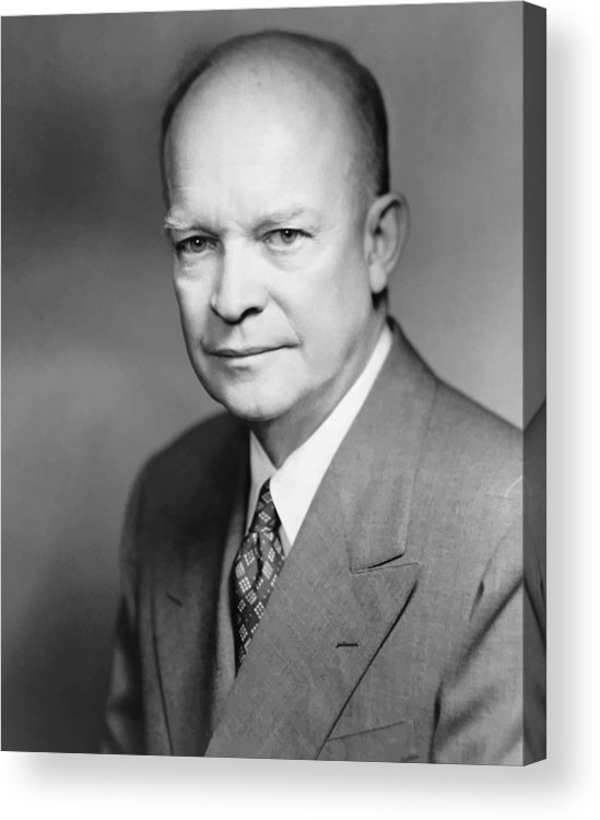 Eisenhower Acrylic Print featuring the painting Dwight Eisenhower by War Is Hell Store