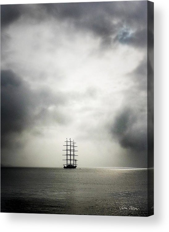Yacht Acrylic Print featuring the photograph Maltese Falcon by Sabine Stetson