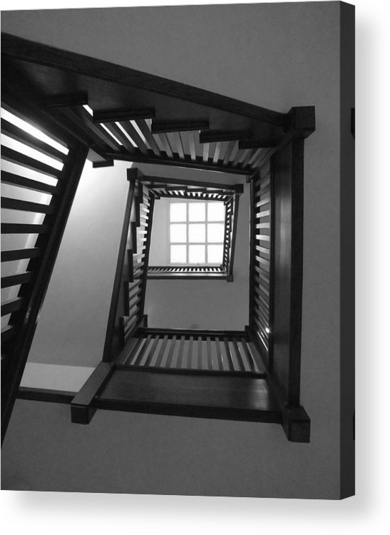 Chicago Acrylic Print featuring the photograph Prairie House Stairs by Anna Villarreal Garbis