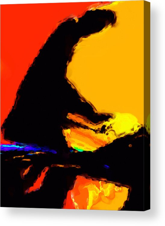 Abstract Acrylic Print featuring the digital art The Pianist by Richard Rizzo