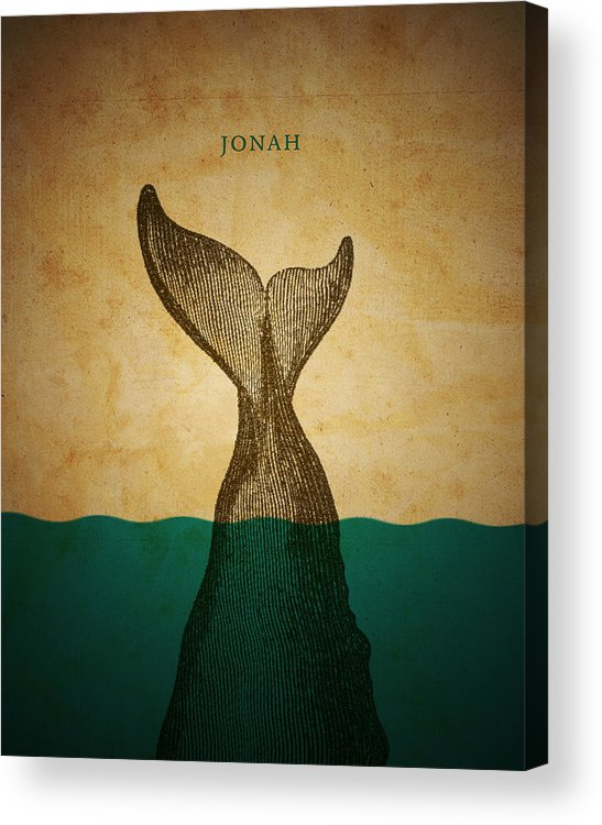 Bible Acrylic Print featuring the digital art Wordjonah by Jim LePage