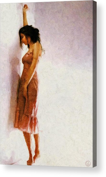 Woman Acrylic Print featuring the digital art And Now What... by Gun Legler