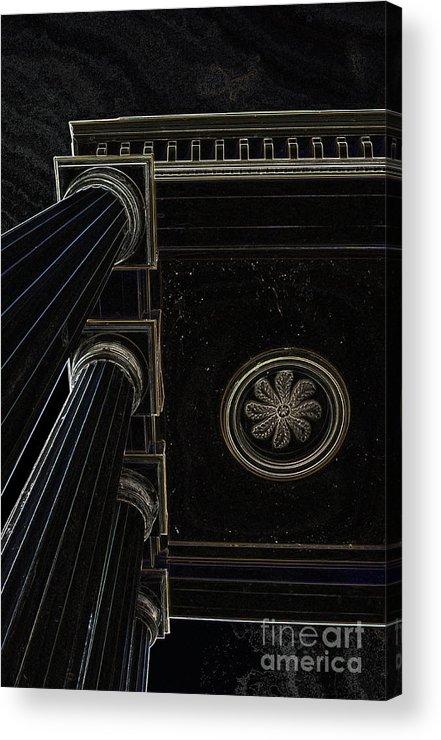 Celestial Pillars.celestial Acrylic Print featuring the photograph Celestial Pillars by Inspired Nature Photography Fine Art Photography