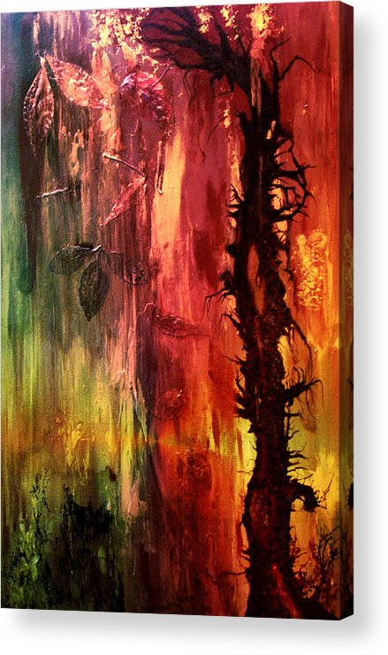 Abstract Acrylic Print featuring the digital art October Abstract by Patricia Motley
