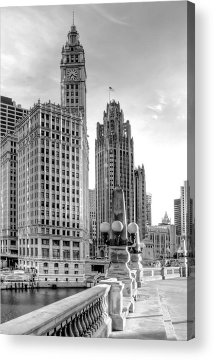 Architecture Acrylic Print featuring the photograph Wrigley And Tribune by Scott Norris
