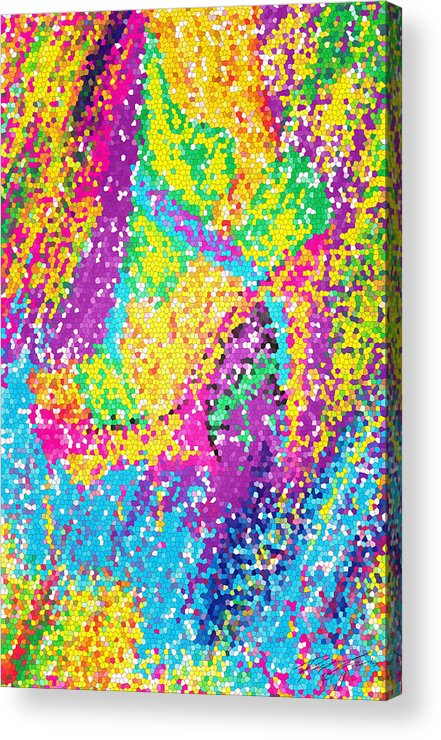 Funky Stilettos Stained Acrylic Print featuring the digital art Funky Stilettos Stained by Kenal Louis
