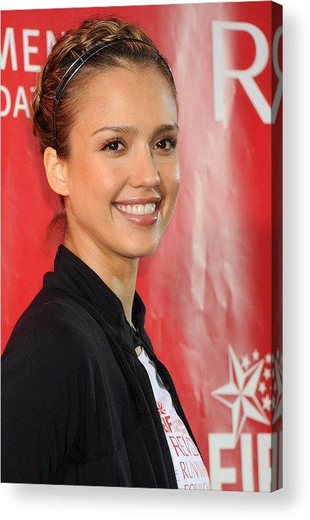 Jessica Alba Acrylic Print featuring the photograph Jessica Alba At A Public Appearance by Everett