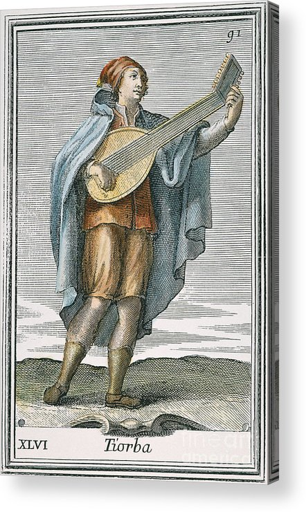 1723 Acrylic Print featuring the photograph Lute, 1723 by Granger