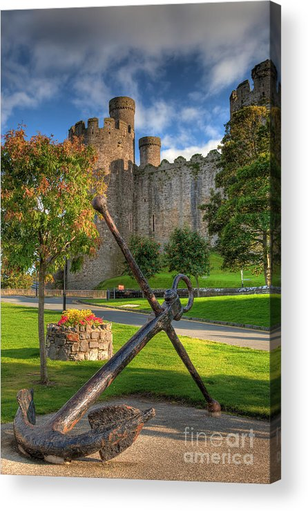 Ancient Acrylic Print featuring the photograph The Anchor by Adrian Evans